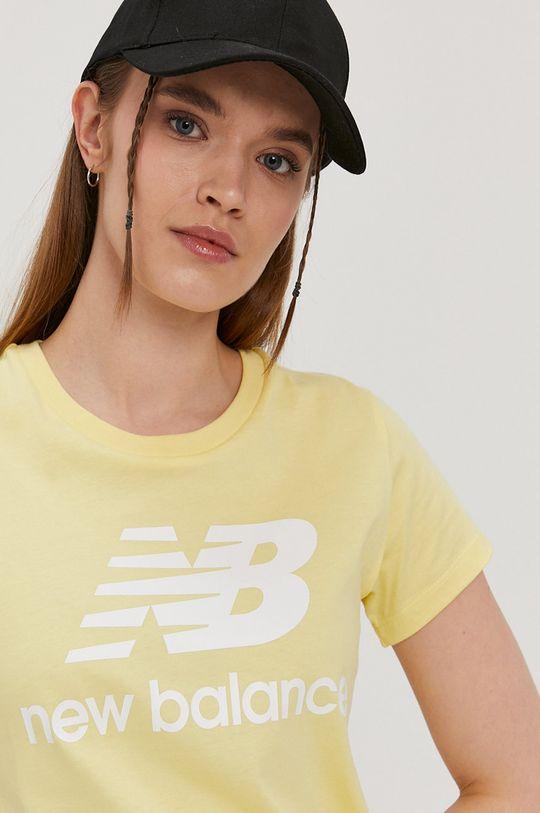 jasny żółty New Balance - T-shirt