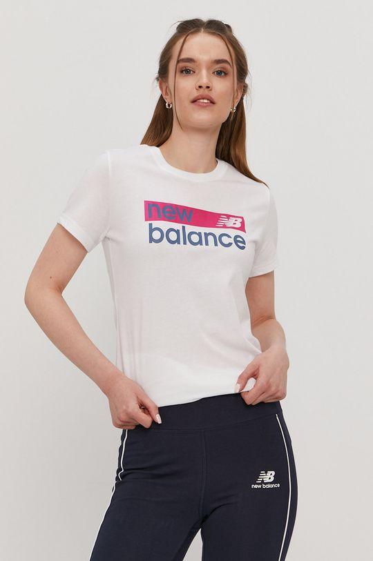 biela New Balance - Tričko Dámsky