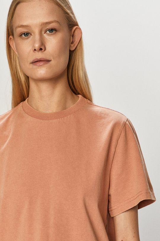 fiołkowo różowy Dr. Denim - T-shirt Damski