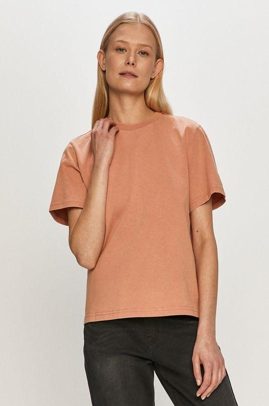 fiołkowo różowy Dr. Denim - T-shirt