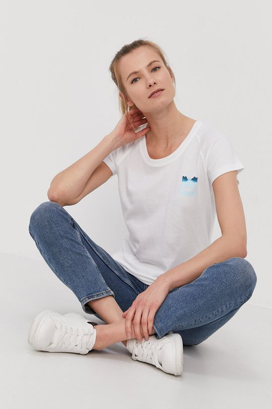 biały Helly Hansen - T-shirt Damski