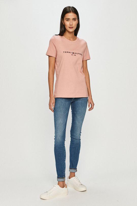 Tommy Hilfiger - Tričko ružová