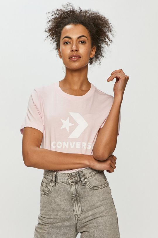 różowy Converse - T-shirt Damski