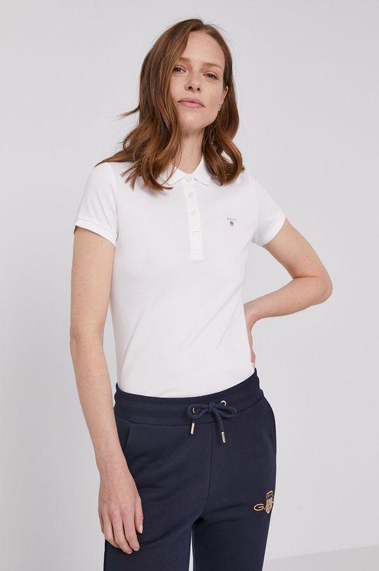 biały Gant - T-shirt Damski