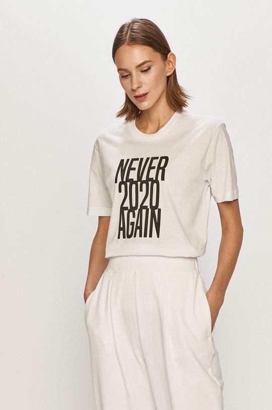 bílá Undiz - Tričko NEVERAGAINIZ Dámský