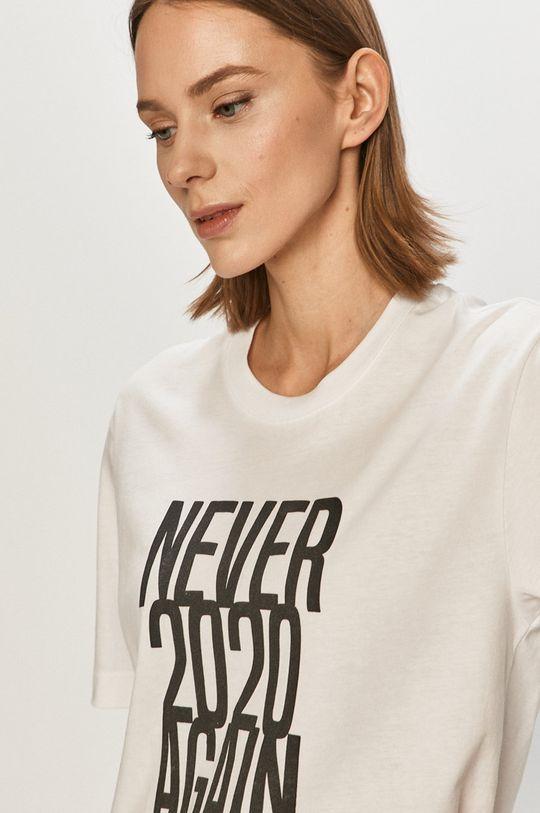 Undiz - Tričko NEVERAGAINIZ bílá