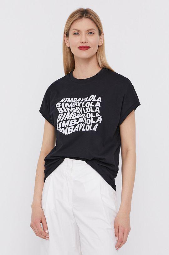 czarny BIMBA Y LOLA - T-shirt Damski