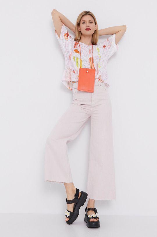 BIMBA Y LOLA - T-shirt różowy