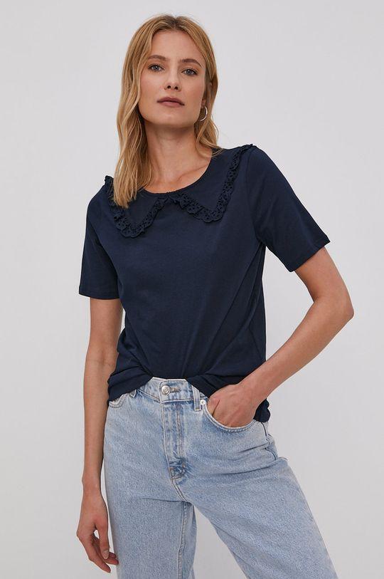 Jacqueline de Yong - T-shirt granatowy