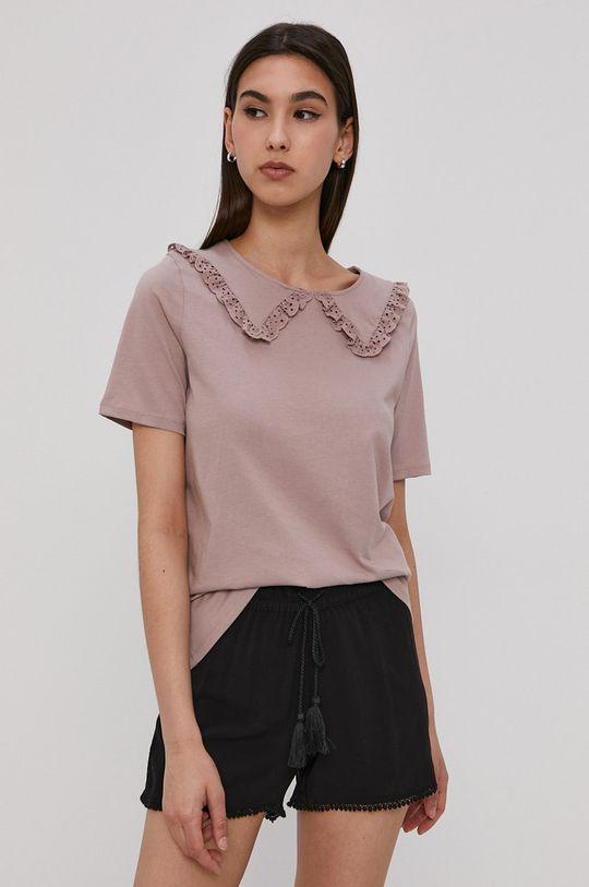 stalowy fiolet Jacqueline de Yong - T-shirt Damski