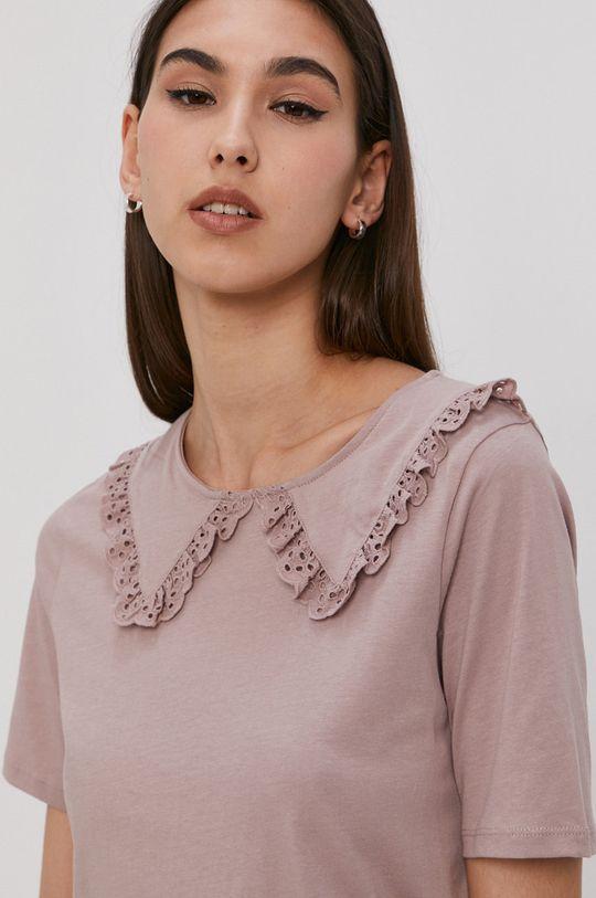 Jacqueline de Yong - T-shirt stalowy fiolet