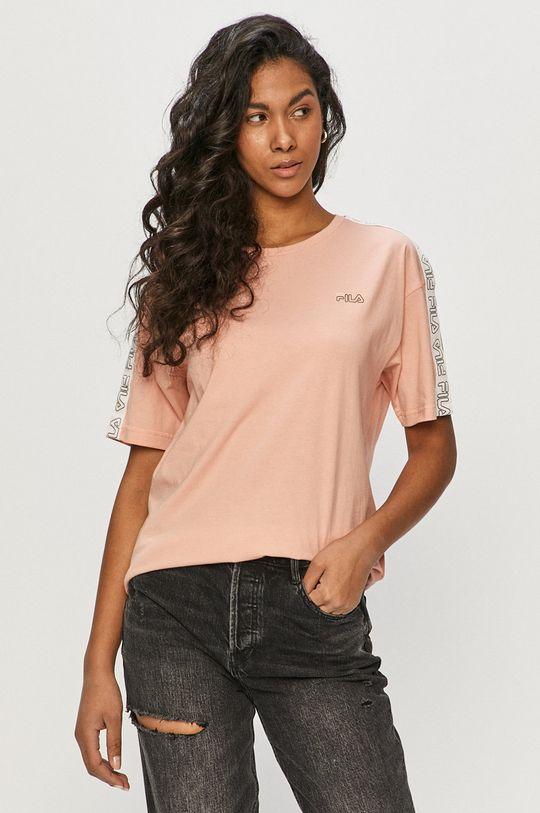 różowy Fila - T-shirt Damski