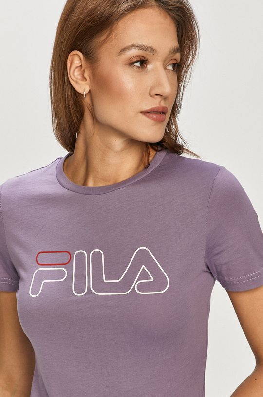 winogronowy Fila - T-shirt Damski