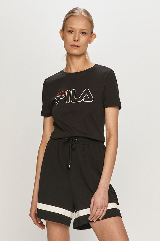 czarny Fila - T-shirt Damski