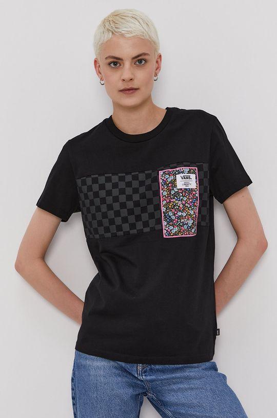 czarny Vans - T-shirt x Liberty Damski