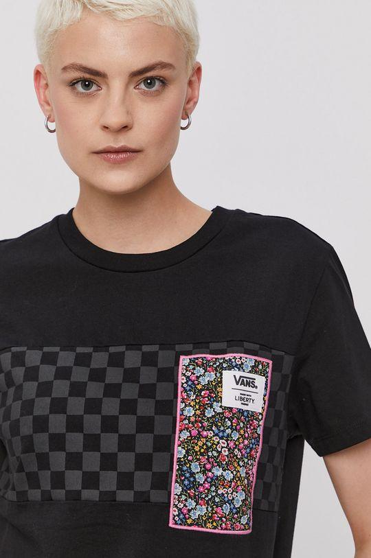 czarny Vans - T-shirt x Liberty