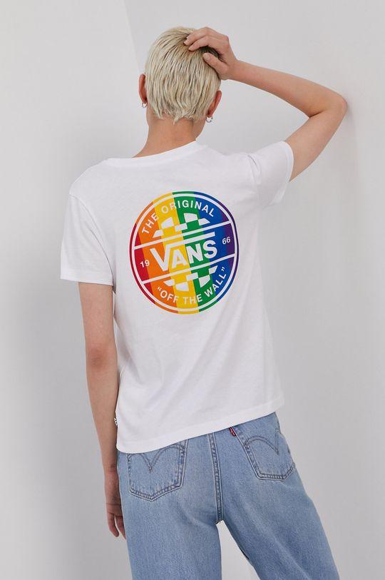 biały Vans - T-shirt PRIDE Damski