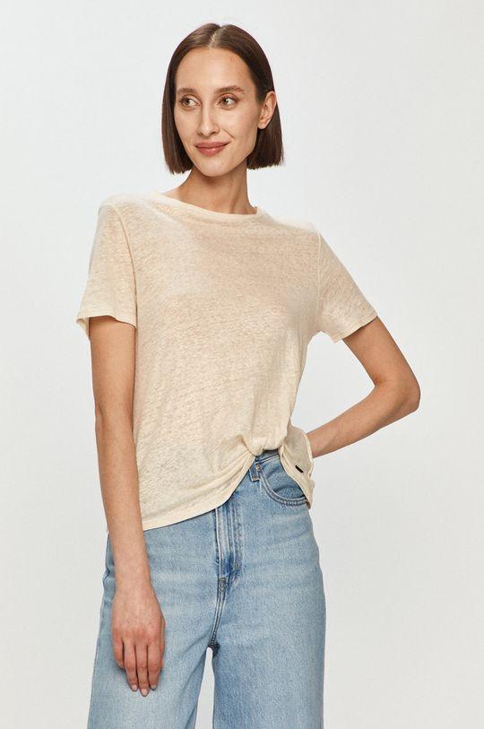 kremowy Pepe Jeans - T-shirt Lua Damski
