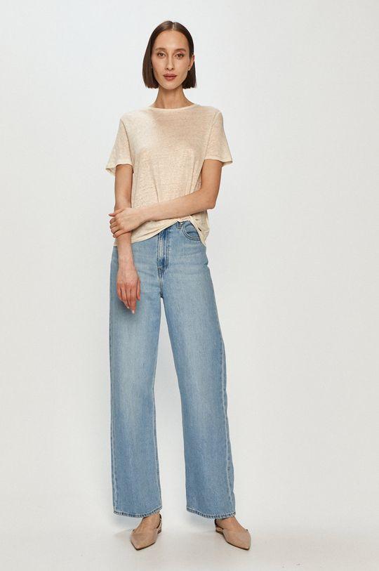 Pepe Jeans - T-shirt Lua kremowy