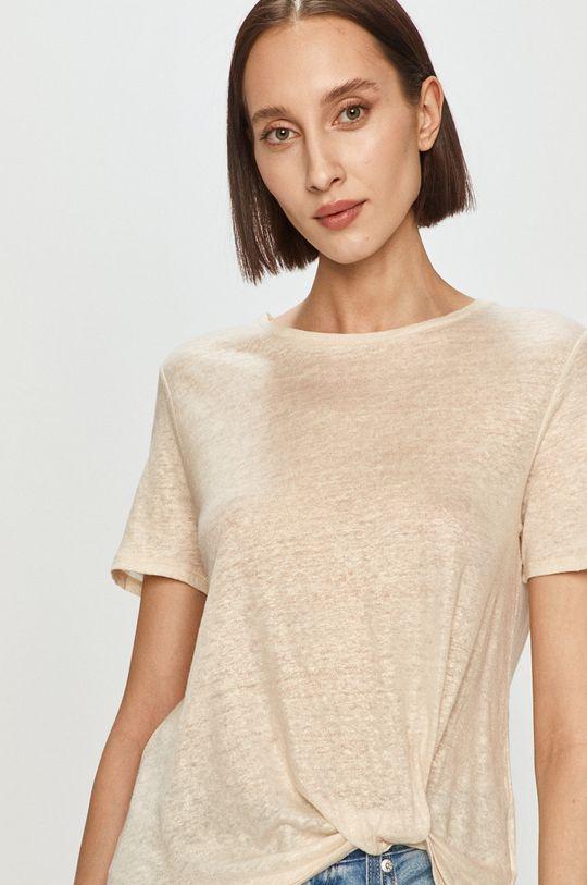 kremowy Pepe Jeans - T-shirt Lua