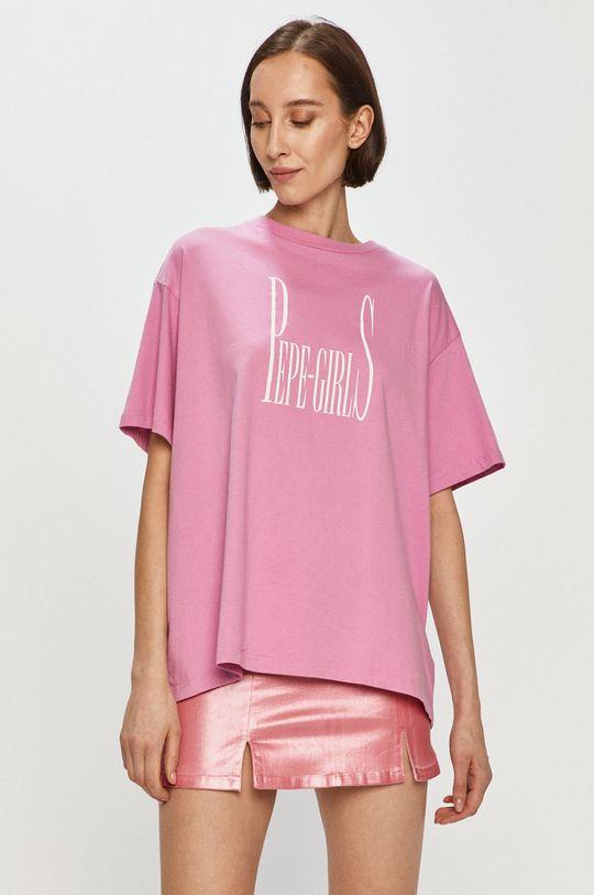 różowy Pepe Jeans - T-shirt Lula Damski