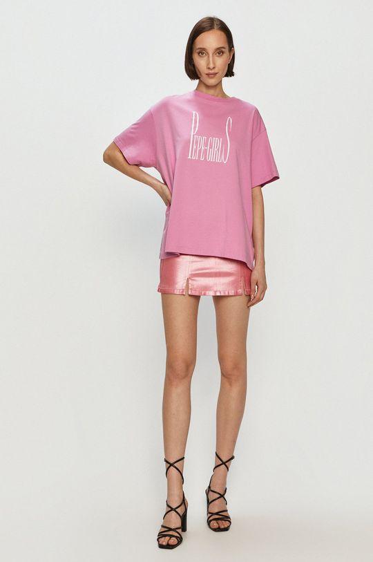 Pepe Jeans - T-shirt Lula różowy