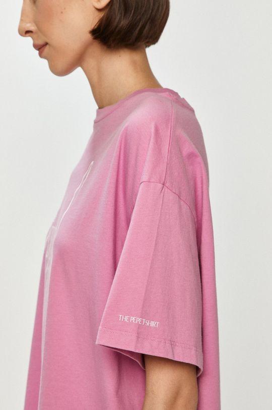 różowy Pepe Jeans - T-shirt Lula