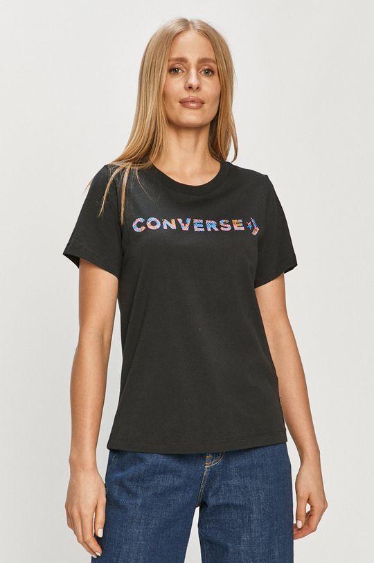 czarny Converse - T-shirt Damski