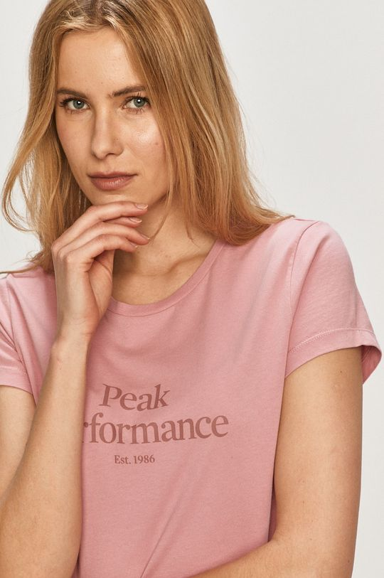 różowy Peak Performance - T-shirt Damski