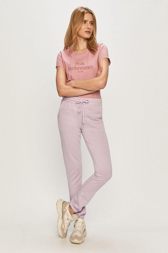 Peak Performance - T-shirt różowy