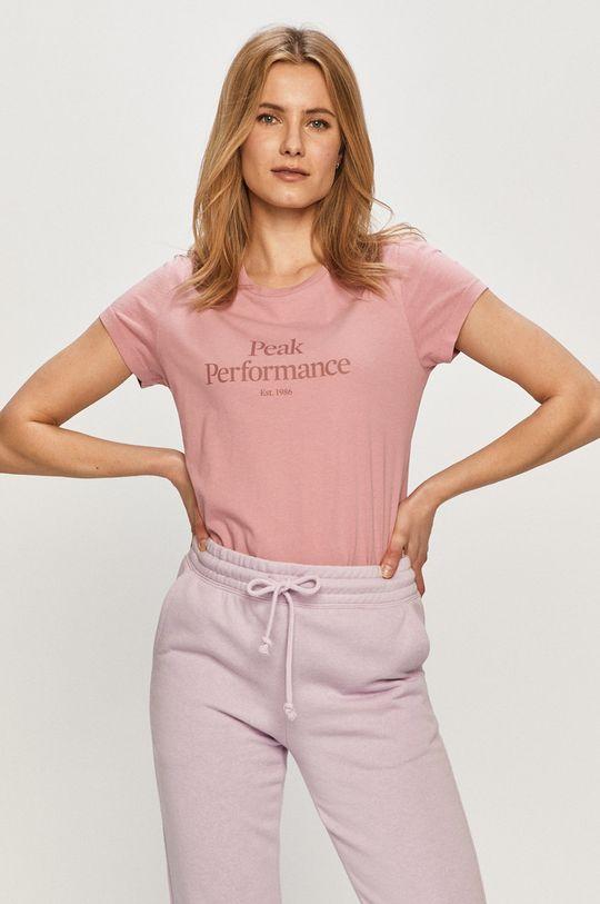 różowy Peak Performance - T-shirt