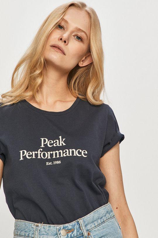 námořnická modř Peak Performance - Tričko