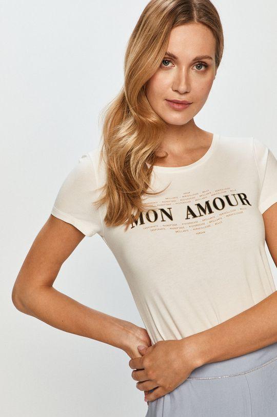 biały Morgan - T-shirt Damski
