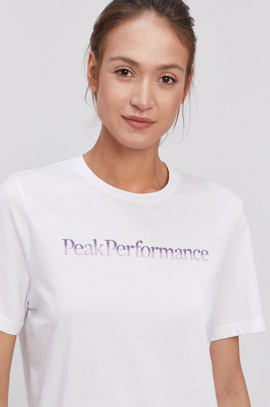 biały Peak Performance - T-shirt