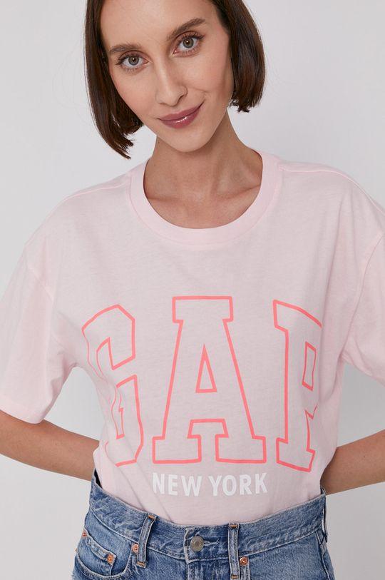 pastelově růžová GAP - Tričko