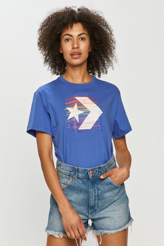 niebieski Converse - T-shirt Damski