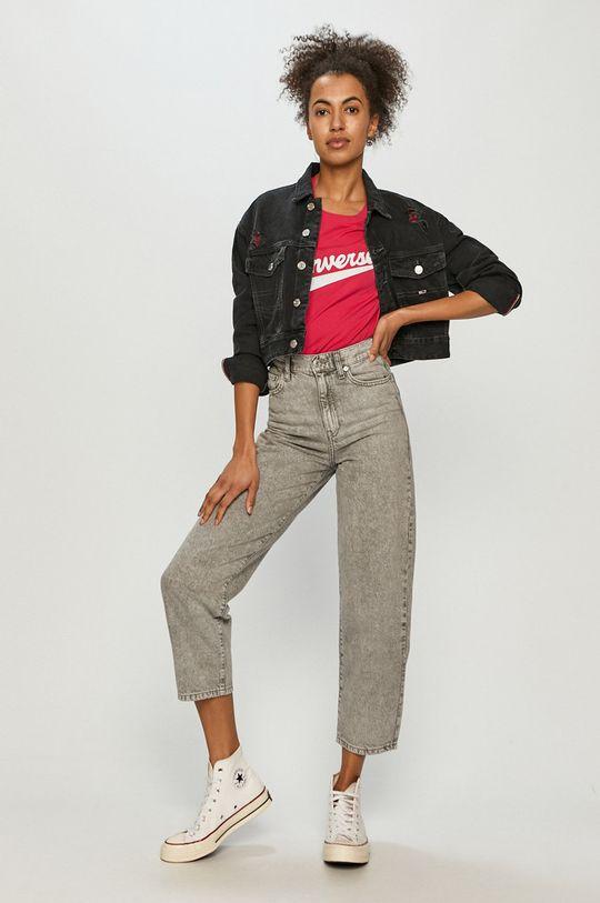 Converse - T-shirt ostry różowy