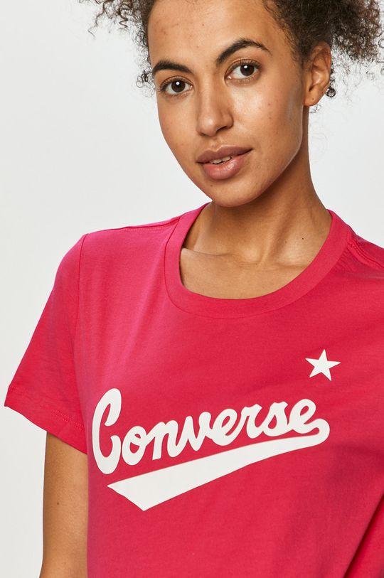 ostry różowy Converse - T-shirt