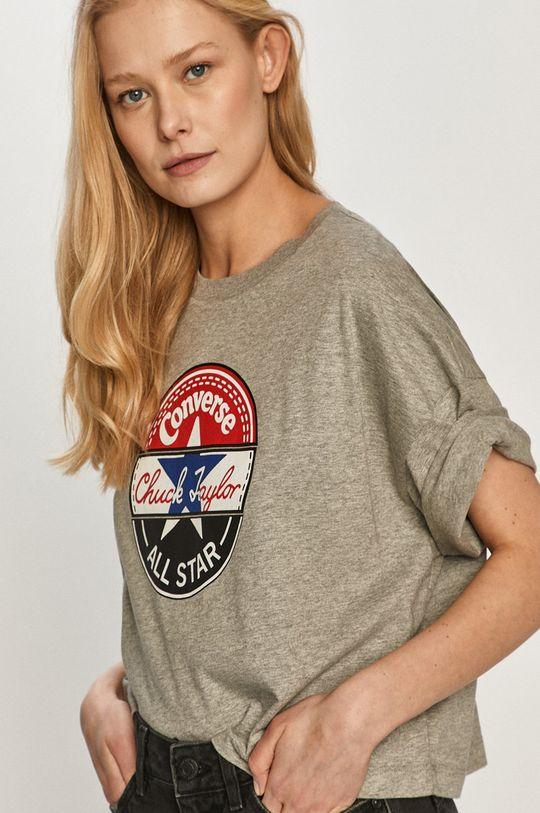 szary Converse - T-shirt