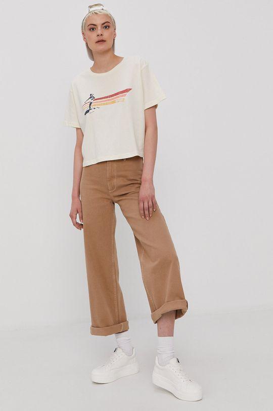 kremowy Rip Curl - T-shirt Damski