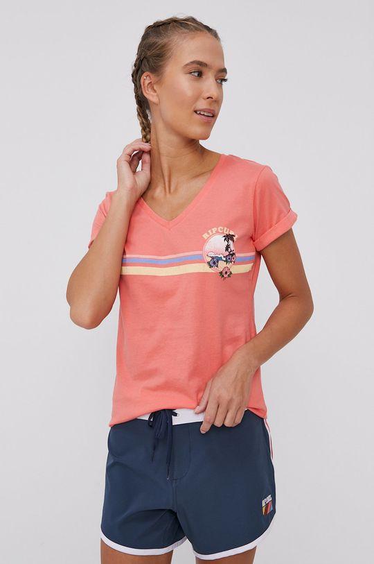 ostry różowy Rip Curl - T-shirt Damski