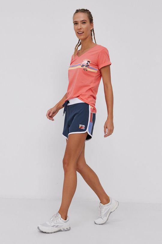 Rip Curl - T-shirt ostry różowy