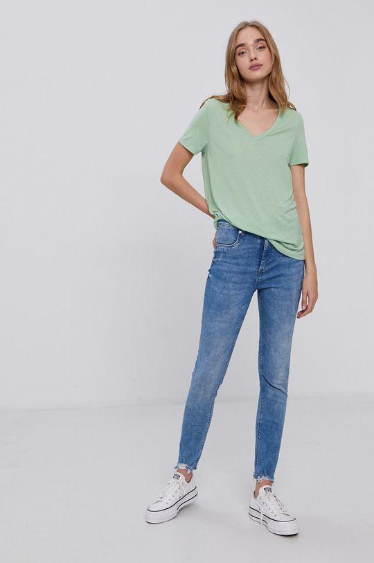Vero Moda - Tričko světle zelená