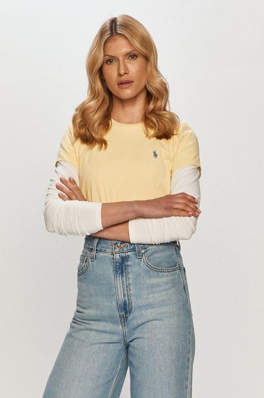 żółty Polo Ralph Lauren - T-shirt Damski