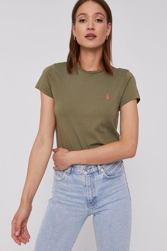 oliwkowy Polo Ralph Lauren - T-shirt Damski