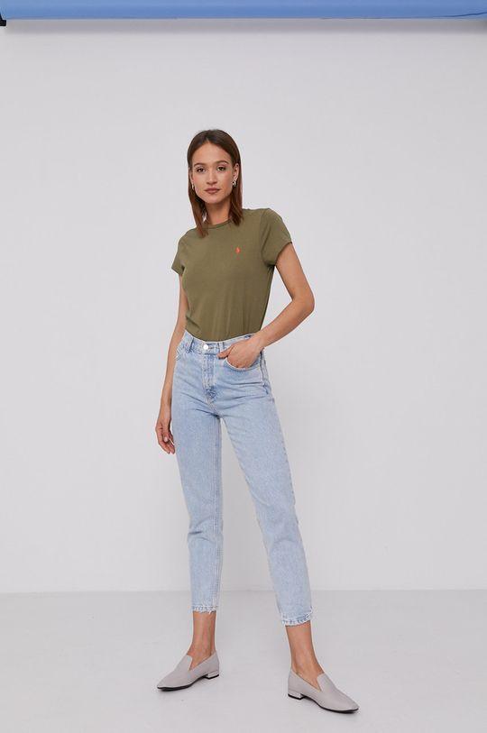 Polo Ralph Lauren - T-shirt oliwkowy