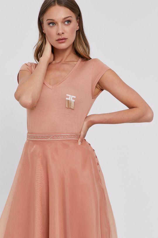 roz rosu Elisabetta Franchi - Tricou De femei