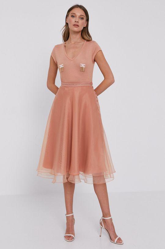 Elisabetta Franchi - Tricou roz rosu