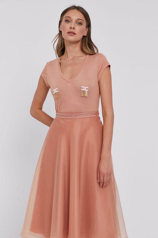 roz rosu Elisabetta Franchi - Tricou