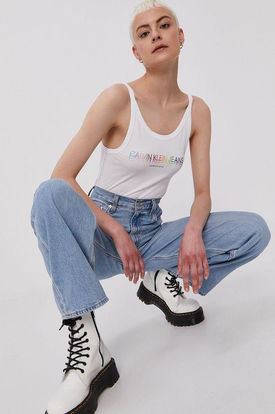 biały Calvin Klein Jeans - Top Damski
